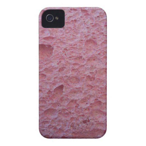 Pink sponge phone cover. iPhone 4 case
