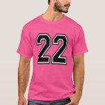 Pink Sports Jersey Number 22 T-Shirt