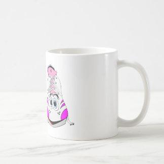 Pink Sports Shoes Cartoon Coffee Mug
