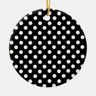 Pink Spot Polka Dot Christmas Ornament