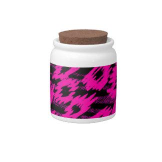 Pink Spots Pattern Candy Dish