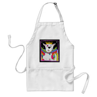 Pink Spotted Dog Angel Adult Apron