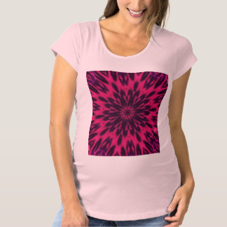 Pink Spotted Leopard Kaleidoscope Pink Maternity T-Shirt