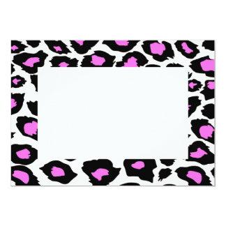 """Pink Spotted Leopard Print Invitations 5"""" X 7"""" Invitation Card"""
