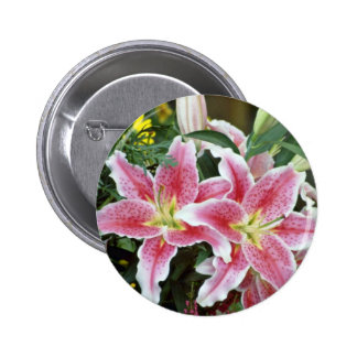 Pink Spotted Lilies flowers Button
