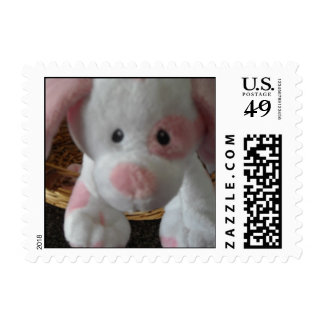 Pink Spotted Pup Postage