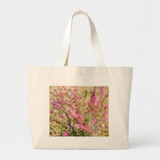 Pink Spray Large Tote Bag