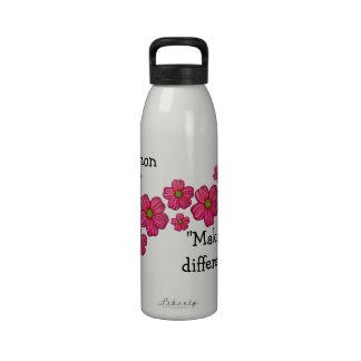 Pink Spray Nurse Water Bottle
