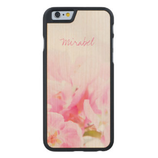 Pink Spring Apple Blossoms Carved Maple iPhone 6 Case
