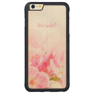 Pink Spring Apple Blossoms Carved Maple iPhone 6 Plus Bumper Case