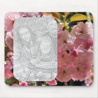 Pink Spring Blossoms Floral Photo Mouse Pad