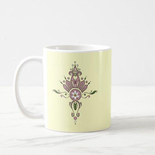 Pink Spring Curly-Cue Mug