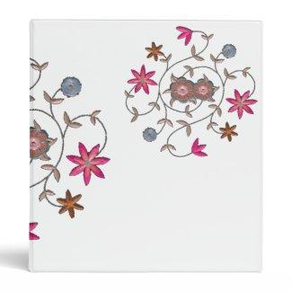 Pink Spring Flower Garden binder