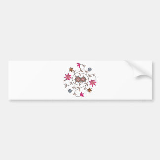 Pink Spring Flower Garden Car Bumper Sticker