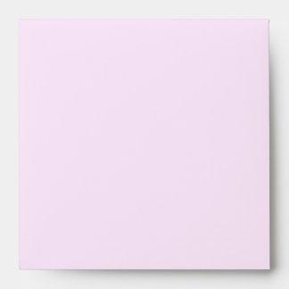 Pink Spring Flowers Watercolor Wedding Envelope
