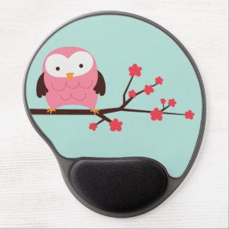 Pink Spring Owl Gel Mouse Pad