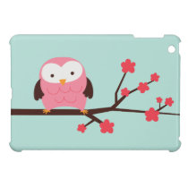 Pink Spring Owl iPad Mini Case