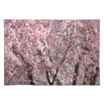 Pink Spring Tree Blossom Flowers Place Mats nature