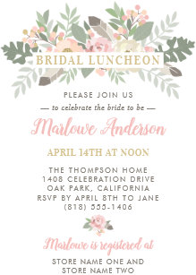 bridal luncheon invitations zazzle
