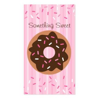 Pink Sprinkled Donut Business Card