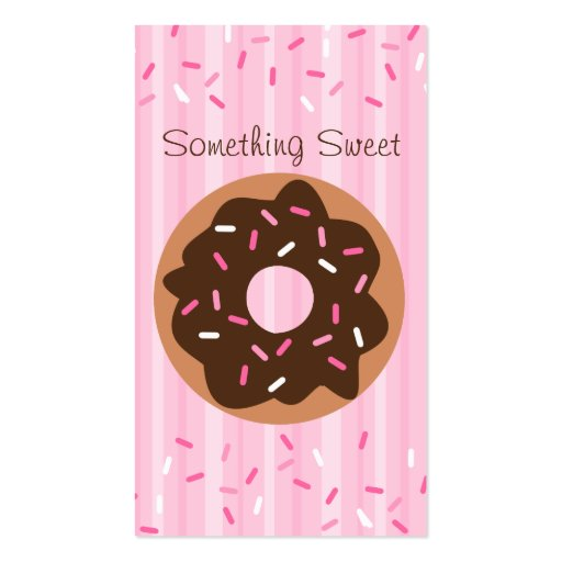 Pink Sprinkled Donut Business Card (front side)