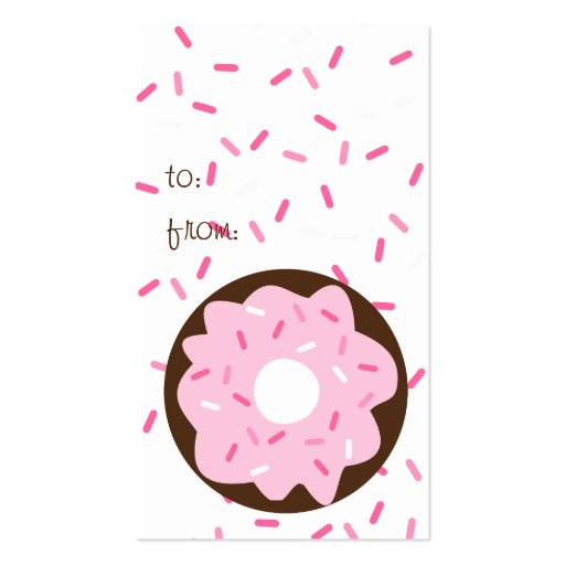 Pink Sprinkled Donut Business Card (back side)