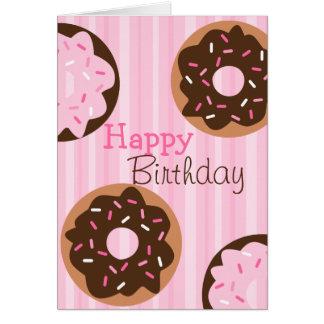 Pink Sprinkled Donut Card
