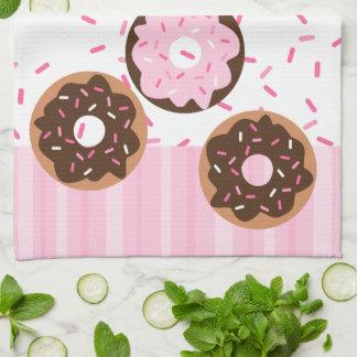 Pink Sprinkled Donut Towels