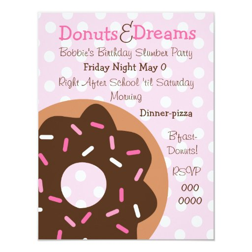 Pink Sprinkles 4.25x5.5 Paper Invitation Card