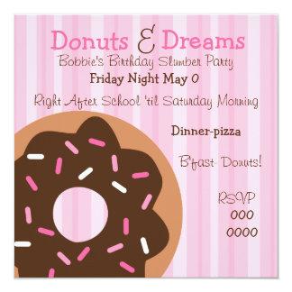 """Pink Sprinkles 5.25"""" Square Invitation Card"""