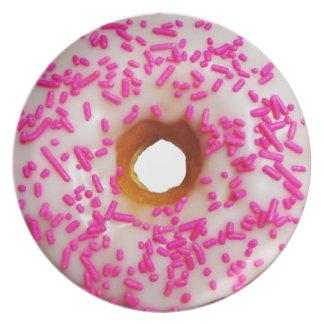 Pink Sprinkles Donuts Melamine Plate