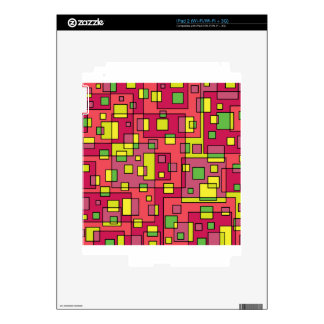 Pink square background decal for the iPad 2