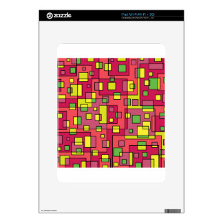 Pink square-background iPad decal