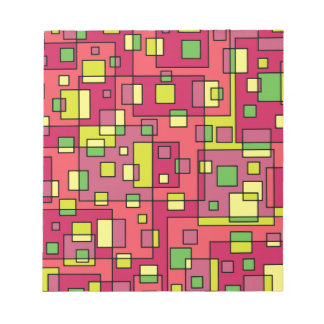 Pink square-background notepad