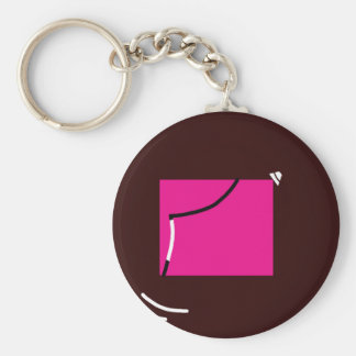 Pink square keychain