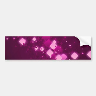 Pink square sparkle bumper sticker