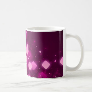 Pink square sparkle classic white coffee mug
