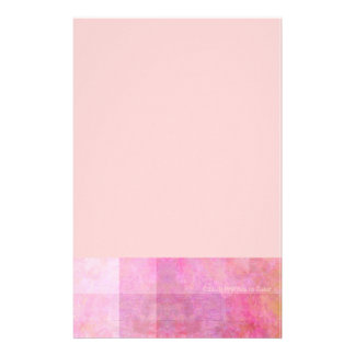 Pink Squares Abstract Stationery