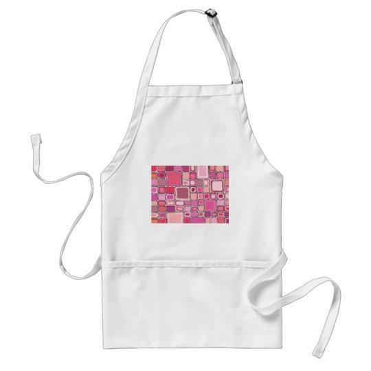 Pink Squares Adult Apron
