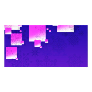 Pink squares and creative art work photo card template
