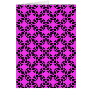 Pink  squares and squares card