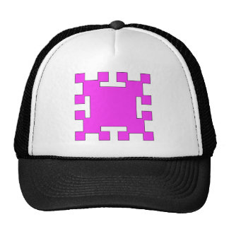 Pink  squares and squares trucker hat