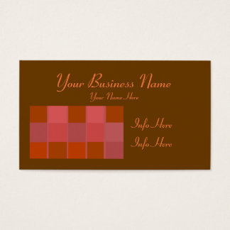 Pink Squares Pattern Business Card