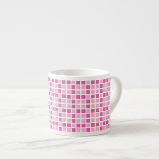 Pink Squares Pattern Espresso Cup