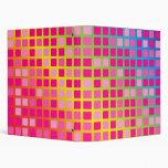 Pink Squares Vinyl Binder