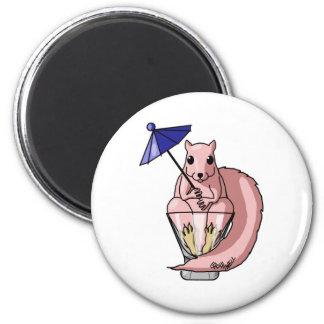 Pink Squirrel 2 Inch Round Magnet