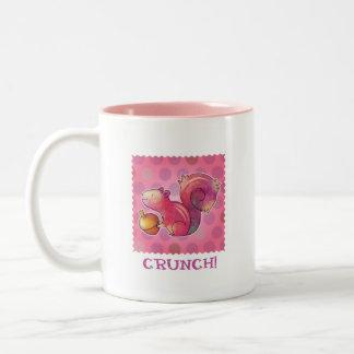 Pink Squirrel 2-Tone Mug(left handle) Two-Tone Coffee Mug