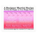 Pink Squirrel Martini Recipe Card Postcard