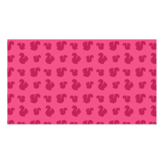 Pink squirrel pattern Double-Sided standard business cards (Pack of 100)