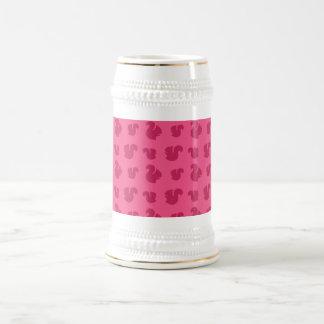 Pink squirrel pattern 18 oz beer stein